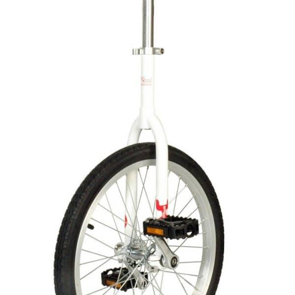 cette image représente le monocycle onlyone blanc