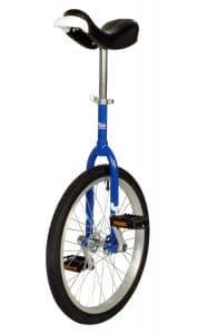 cette image représente le monocycle onlyone bleu