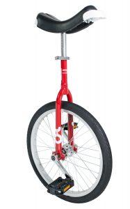 cette image représente le monocycle onlyone rouge